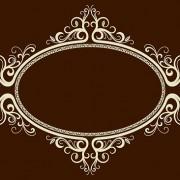 Link toOval frame ornate vector