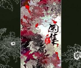 Chinese Painting Chrysanthemums Photoshop Brushes