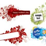 Link toModern floral border vector