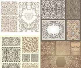 kinds background with decorative pattern vector