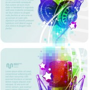 Link toMusic background vector material