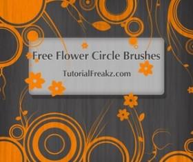 Flower Circle Photoshop Brushes