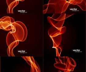 Dynamic flame lines background vector