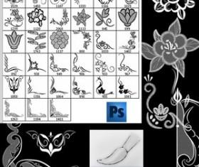 Floral Ornament Frames Photoshop Brushes