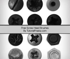 Screw Head Photoshop Brushes