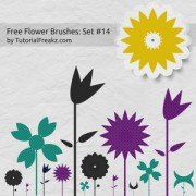 Link toFree flower set photoshop brushes