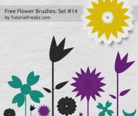 Free Flower Set Photoshop Brushes