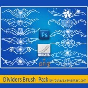 Link toDividers brush pack photoshop brushes