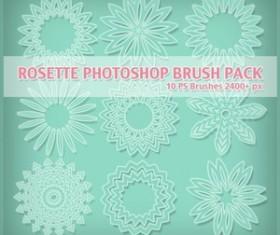 Free Rosette Photoshop Brushes