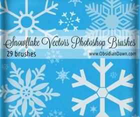 Snowflake Set of vectors Photoshop Brushes