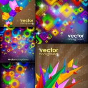 Gorgeous bright dazzling effect background vector