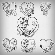 Link toValentine heart brushes photoshop brushes