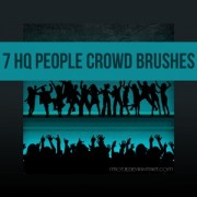 Link to7 hq people crowd brushes photoshop brushes