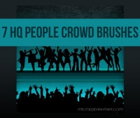7 HQ People Crowd Brushes Photoshop Brushes
