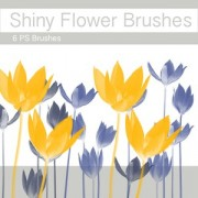 Link toShiny flower brushes photoshop brushes