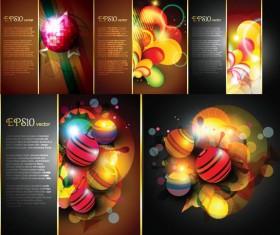 Modern ball background vector set