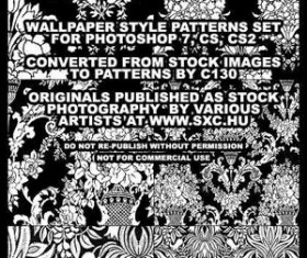 Wallpaper Style Patterns Set