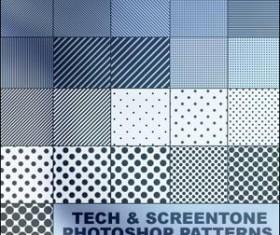 Tech & Screentone Photoshop Patt