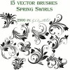 Spring Swirls Set of vector Brushes  Photoshop Brushes