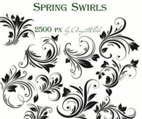 Spring Swirls Set of vector Brushes  Photoshop Brushes