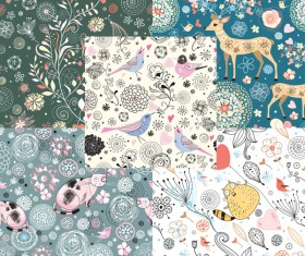 Decorative pattern illustration background