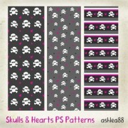 Link toSkulls and hearts ps patterns