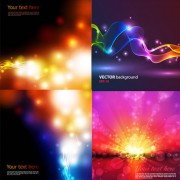Link toColorful halo light background vector art