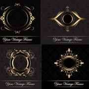 Link toElements of classic decorative pattern background vector