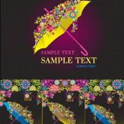 Link toModern umbrella decorative pattern background vector graphic