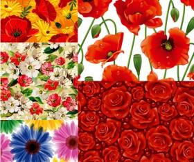 Elements of stylish decorative pattern background art vector