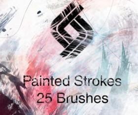 HighRes Paint Strokes: Set I Photoshop Brushes