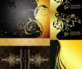 Gold extended pattern background vector