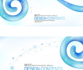 Elements of blue curve striped background
