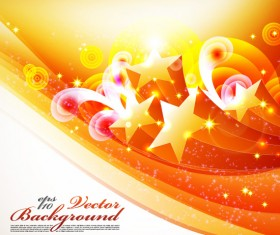 Five-pointed star pattern background vector