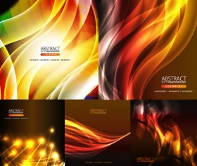 Elements of smoke flow glare background design vector