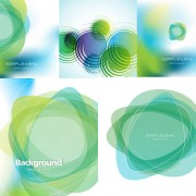 Link toA green wound background art vector