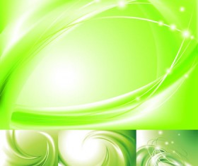 Elements of green movement patterns backgrounds vector art