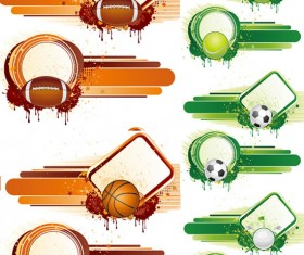Elements of movement style background design vector