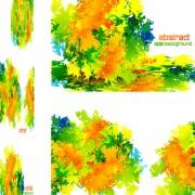 Link toGreen textured background vector graphics