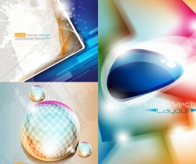 Elements of halo background vector