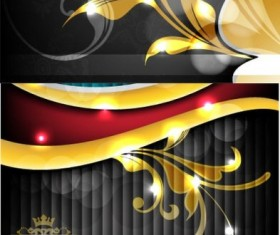 Bright gold flash flowers background vector Graphic