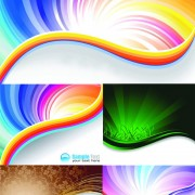 Link toElements of gorgeous rainbow background design vector