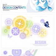 Link toDecorative pattern circle shape backgrounds vector material
