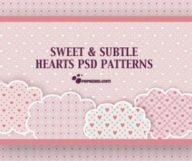 Free Hearts PSD Patterns Photoshop
