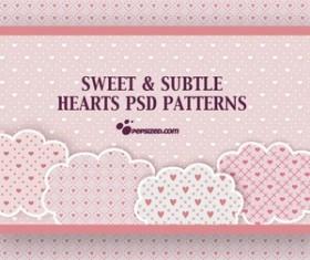 Free Hearts PSD Patterns Photoshop