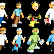 Link to8 kinds of cartoon occupation characters vector