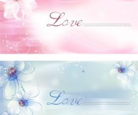 Dream flower background vector graphics