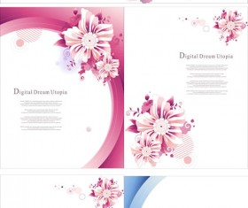 Flowers arc poster background vector
