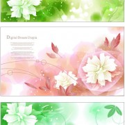 Link toDream bubble flower background vector graphic