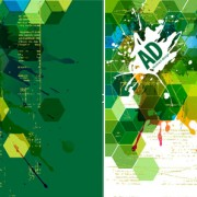 Link toAbstract green background design elements